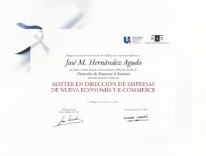 2003 Escuela de Administración de Empresa - Master en Dirección de empresas de nueva economía y e-commerce