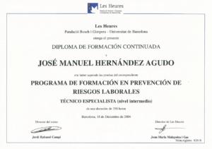 2004 Fundació Bosch i Gimpera - Universidad de Barcelona - Nivel intermedio PRL