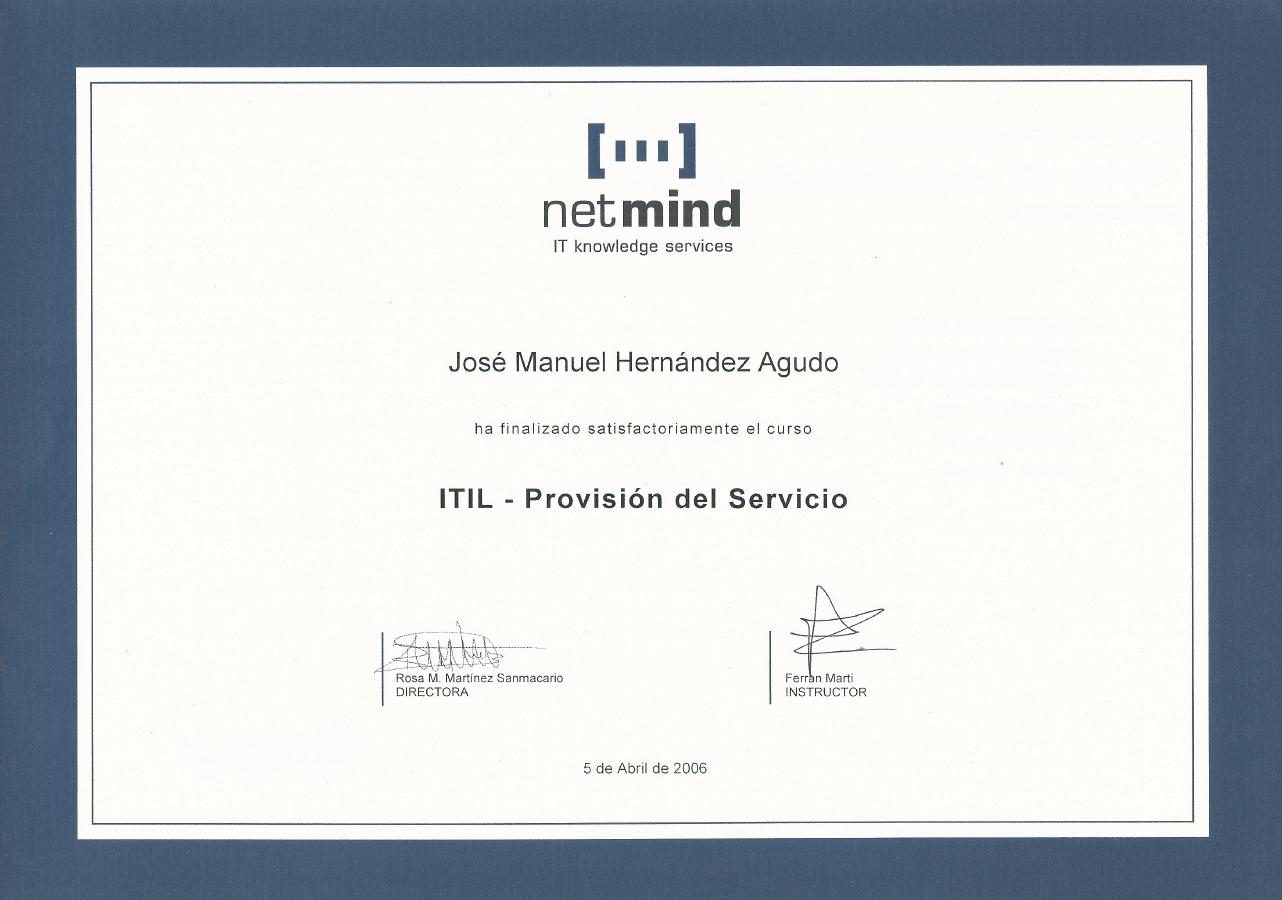 ITIL provision del servicio