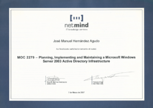 2007 netmind - MOC 2279 Active directory 2003