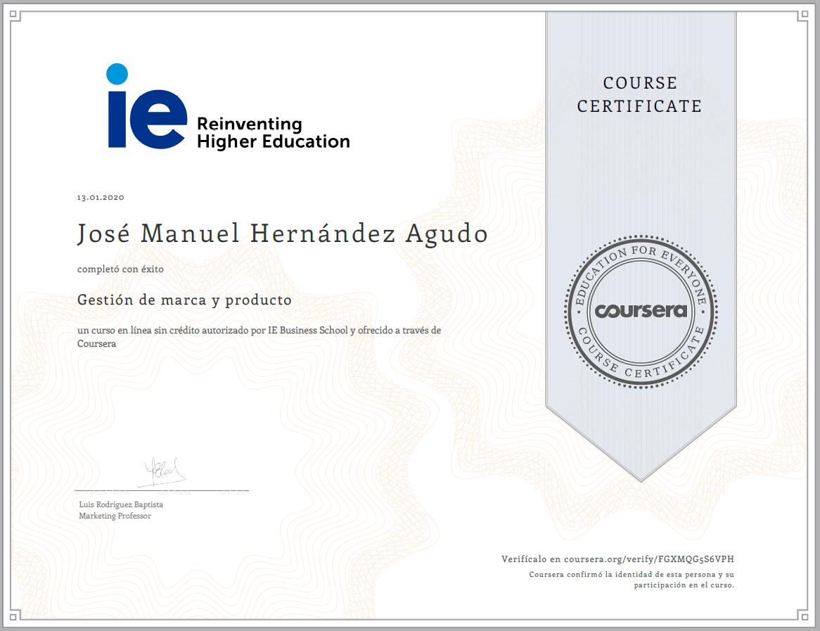 IE Business School Gestión de marca y producto