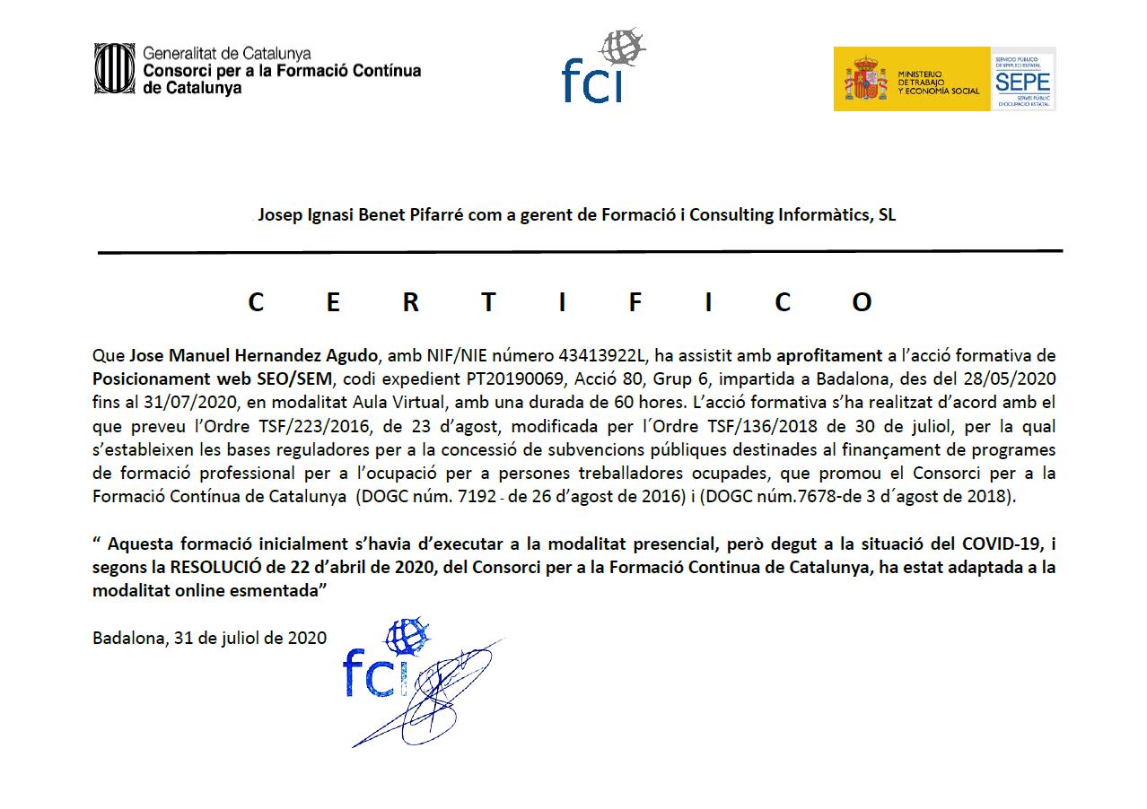 2020 FCI - SEO SEM